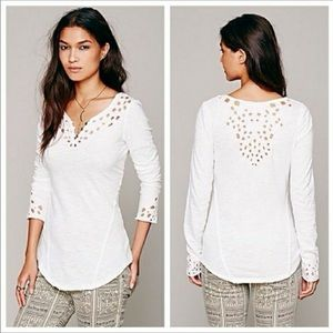 Free People 'Luna' Cut Out Long Sleeve T-Shirt
